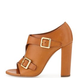 CHLOE -Double Monk Strap Leather Bootie