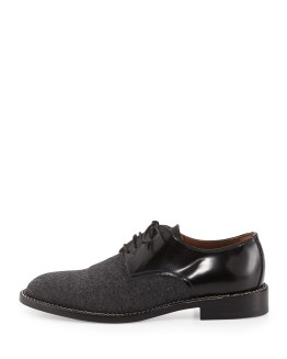GIORGIO ARMANI -Flannel Lace-Up Oxford