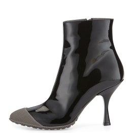 MIU MIU Patent Short Cap-Toe Rain Boot