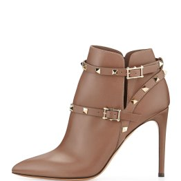 VALENTINO-Strappy Rockstud Ankle Boot