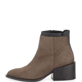 VINCE (Laura) -Layered Leather Ankle Boot, Umber/Black