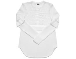 Alexander Wang pour H&M- Tunique Néoprène Blanche à Bandes Transparentes Contrastantes $149